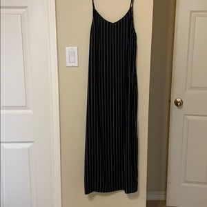 Express Pinstripe midi dress